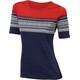 Aclima DesignWool Marius - T-shirt manches courtes Femme - rouge/bleu